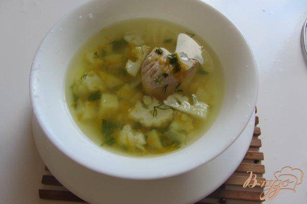 фото рецепта: Суп со цветной капустой и индюшкой без зажарки