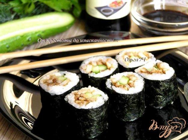 Рецепт Роллы с кальмарами и огурцом