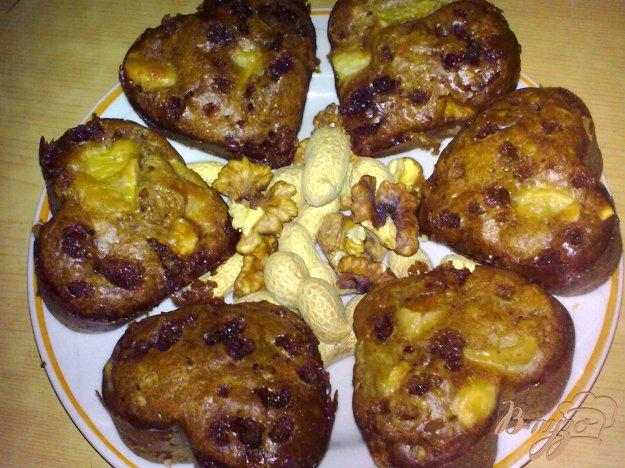 Рецепт Кексы с шоколадом, орешками и апельсинами