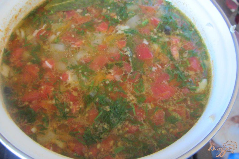 Фото приготовление рецепта: Суп рисовый на индейки с помидорами без зажарки шаг №10