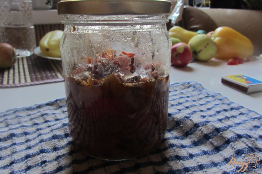 Фото приготовление рецепта: Холодная закуска из баклажанов с помидорами шаг №10