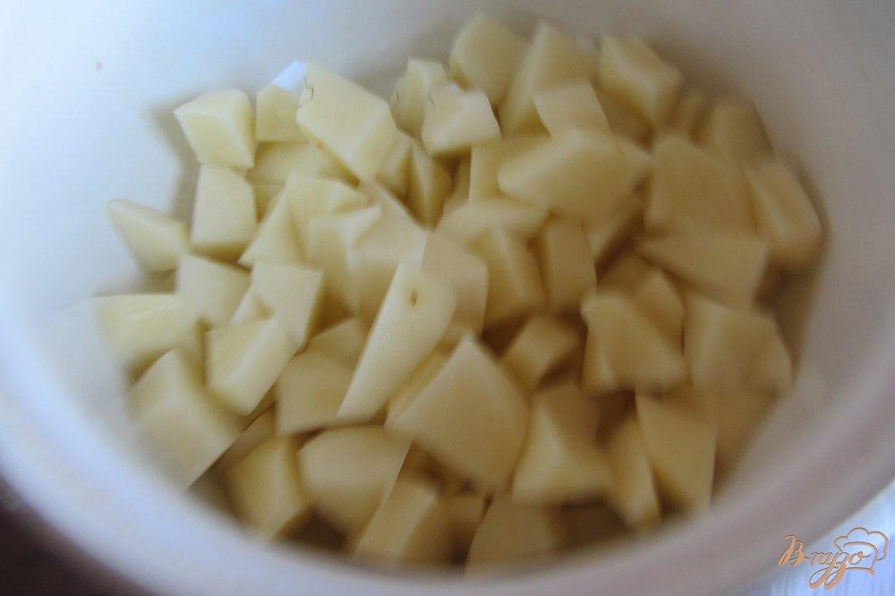 Фото приготовление рецепта: Суп с красной фасоли без зажарки шаг №4