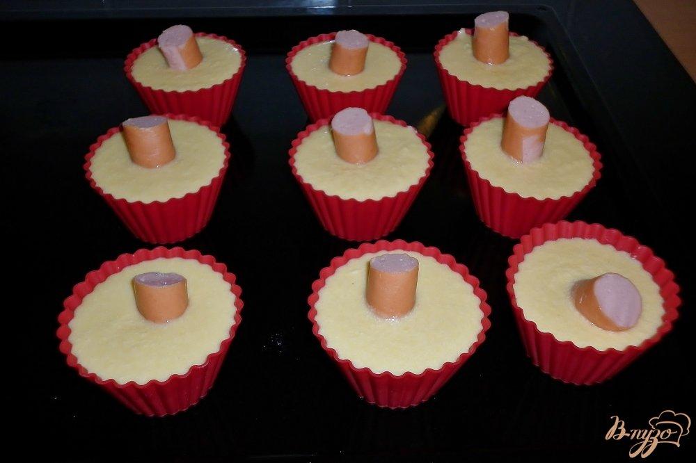 Фото приготовление рецепта: Закусочные маффины шаг №5