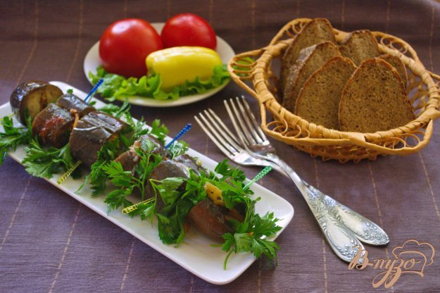 фото рецепта: Фаршированные синенькие (баклажаны)