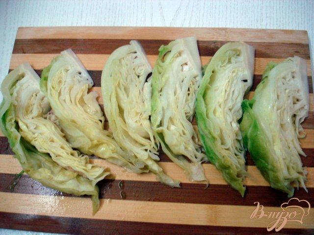 Фото приготовление рецепта: Отбивные из капусты шаг №4