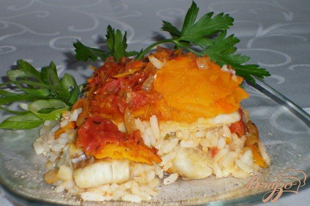 Рецепт Рыба с тыквой и томатным соусом