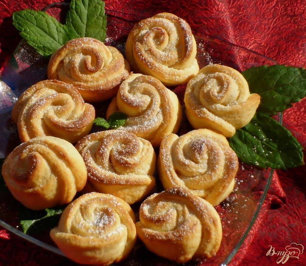 Рецепт творожного печенья розочки
