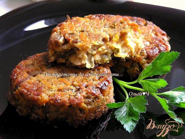 Рецепт Соевые котлетки с грибами (в духовке)