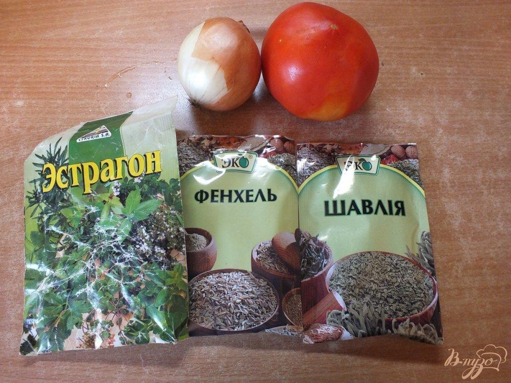 Фото приготовление рецепта: Салат из помидора с  фенхелем и шалфеем шаг №1