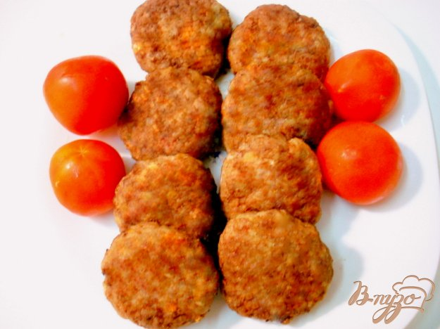 Рецепт Биточки с овощами и рисом