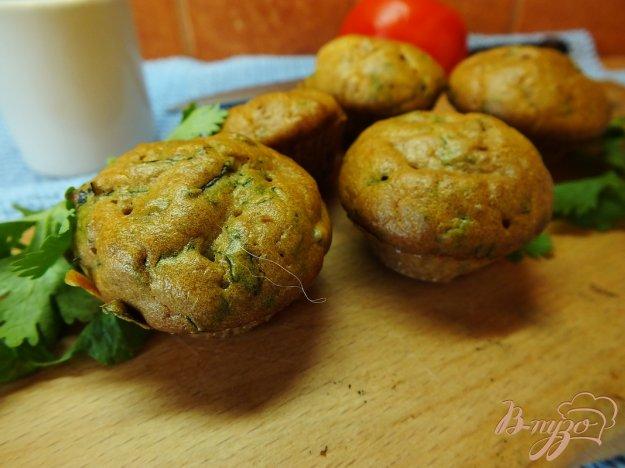 Рецепт Закусочные кексы с кинзой