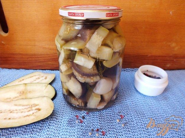 фото рецепта: Консервированный салат из кабачков и баклажанов