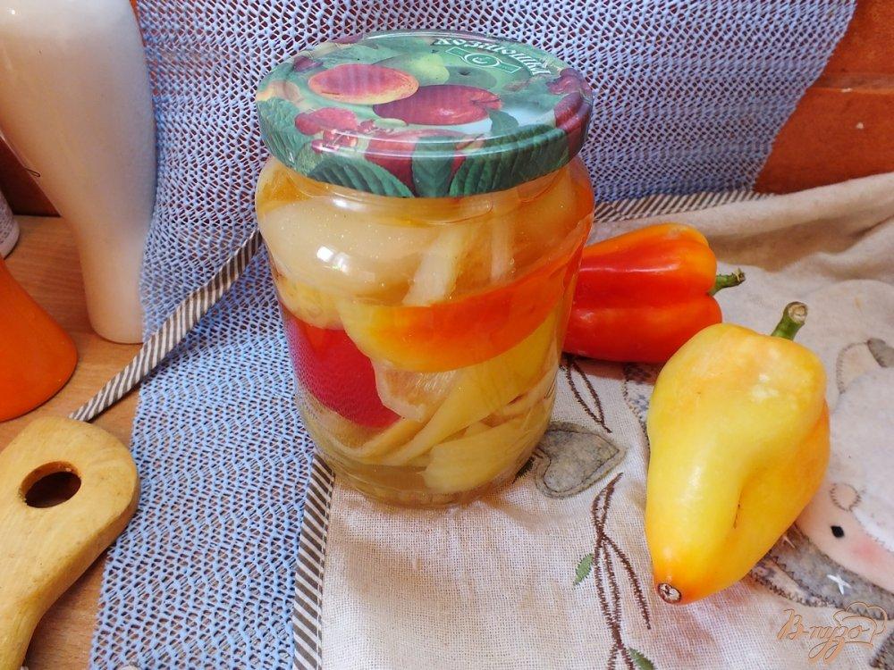 Фото приготовление рецепта: Консервированные перцы чили+болгарские шаг №10