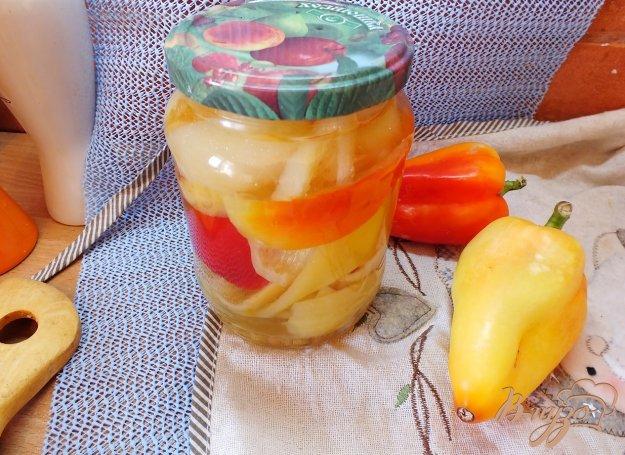 фото рецепта: Консервированные перцы чили+болгарские