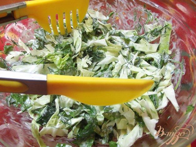Рецепт Огуречно-капустный салат со шпинатом