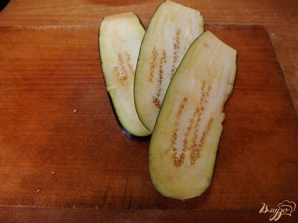 Фото приготовление рецепта: Дуэт из запеченных синих и кабачков шаг №1
