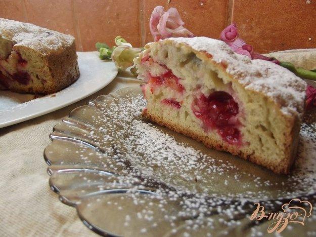 Рецепт Пирог на красном вине с вишней