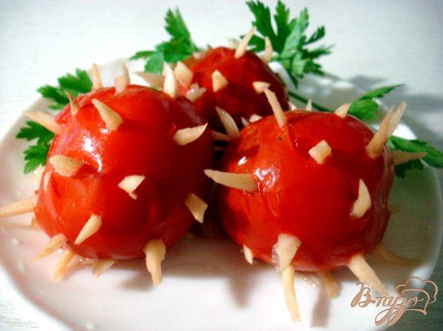 фото рецепта: Помидоры маринованные с чесноком