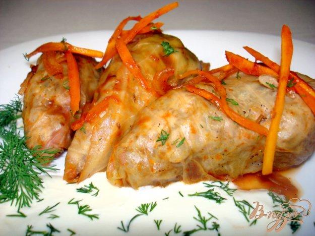 Рецепт Голубцы с куриным мясом и грибами