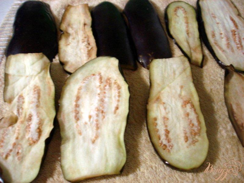 Фото приготовление рецепта: Заготовка перца с баклажанами шаг №4