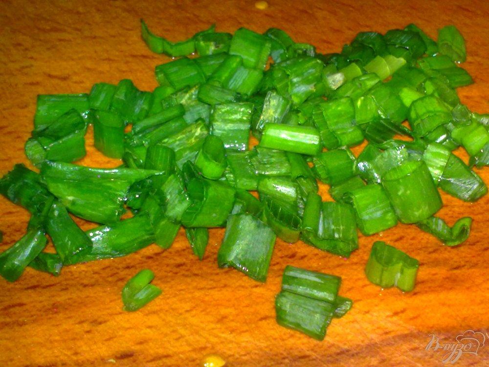 Фото приготовление рецепта: Салат с капустой и грибами
