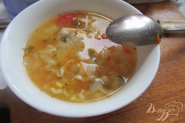 фото рецепта: Макронный суп с помидорами на индейки без зажарки