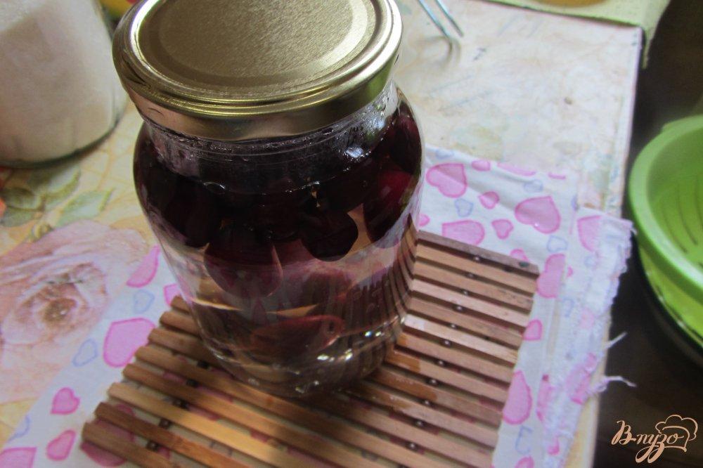 Фото приготовление рецепта: Вишневый компот на зиму шаг №5