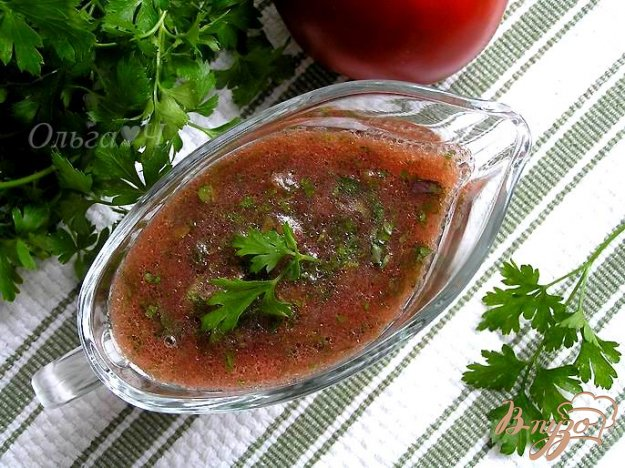 Рецепт Томатный соус с травами (без варки)