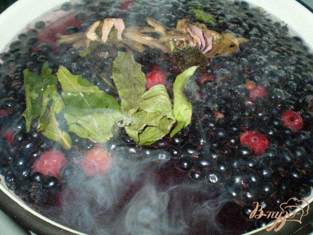 Фото приготовление рецепта: Полезный компот с эхинацеей и вишней шаг №2
