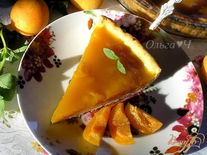 Фото приготовление рецепта: Творожный тарт с абрикосово-апельсиновым желе шаг №7