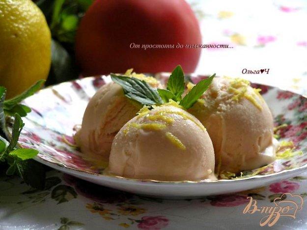 Рецепт Томатное мороженое с лимонным кремом