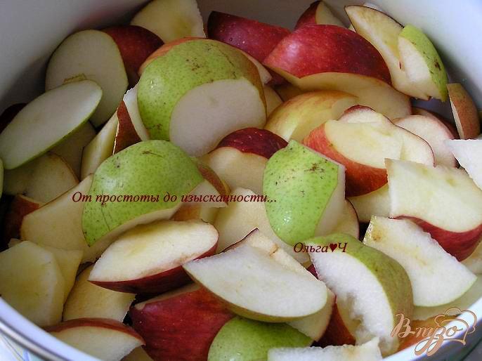 Фото приготовление рецепта: Яблочно-грушевый кисель шаг №1