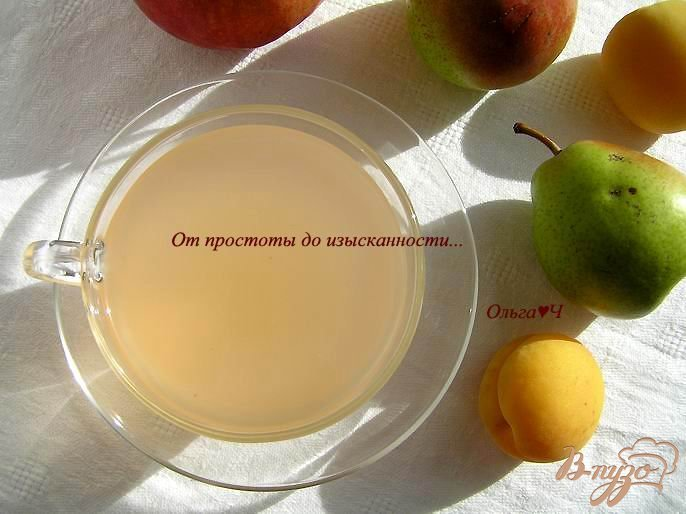Фото приготовление рецепта: Яблочно-грушевый кисель шаг №7