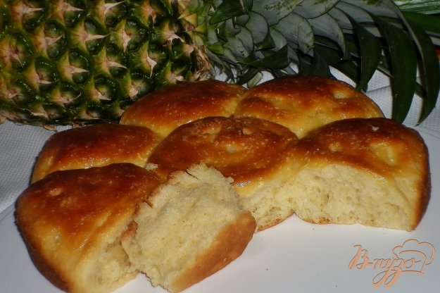 Рецепт Булочки с ананасом