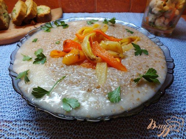 Рецепт Пшеничная каша по-болгарски с печеным болгарским перцем