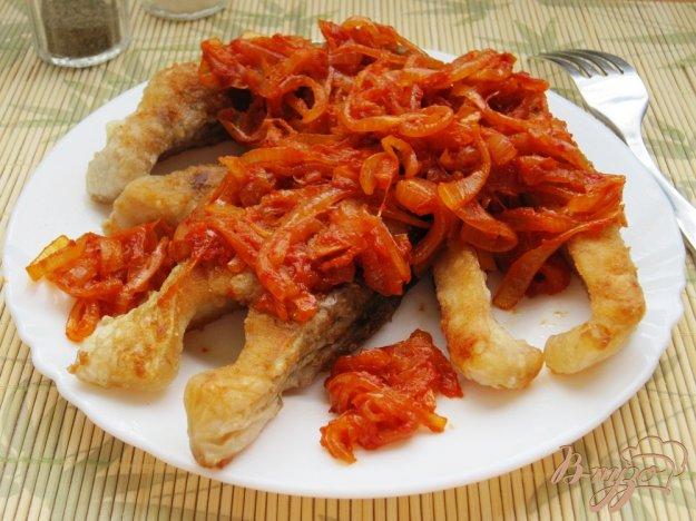 Рецепт Карп жареный под луково-томатным соусом