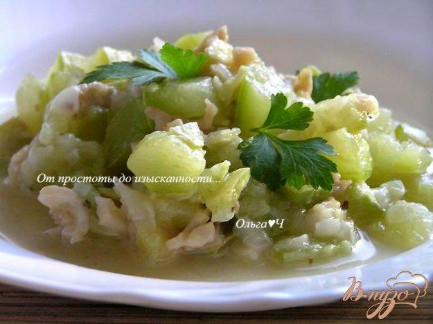 Рецепт Кабачки с кальмарами