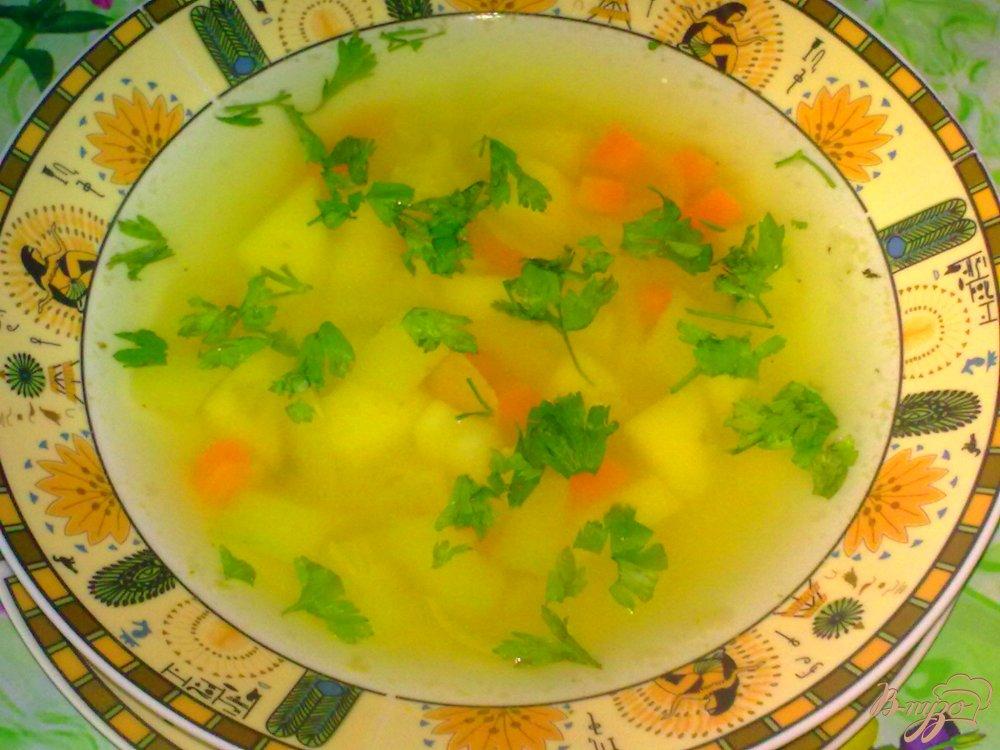 Фото приготовление рецепта: Суп с кабачком
