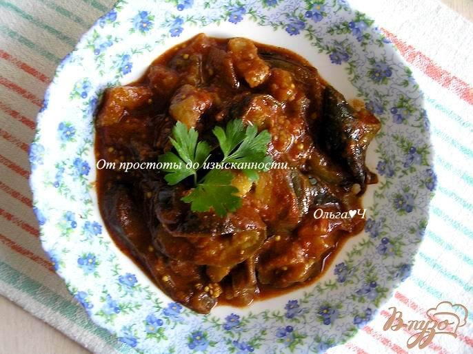 Фото приготовление рецепта: Баклажаны в томатном соусе (в мультиварке) шаг №5