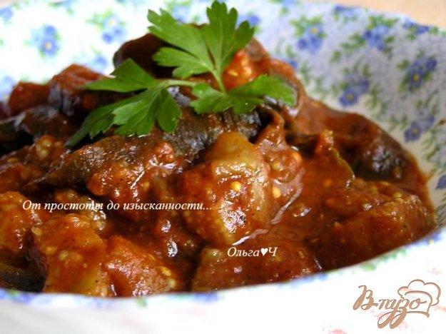 фото рецепта: Баклажаны в томатном соусе (в мультиварке)