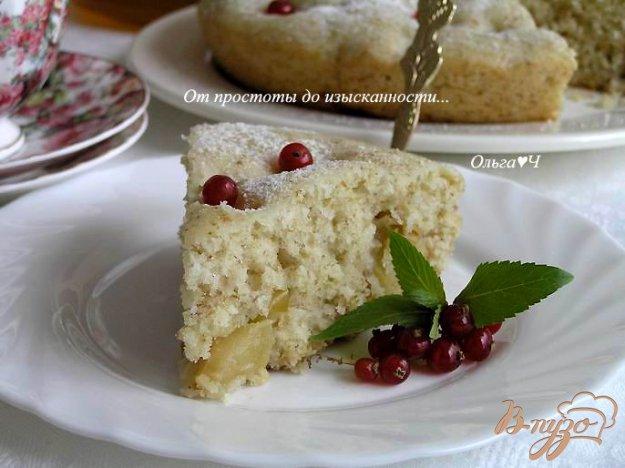 Рецепт Шарлотка с яблоками и овсяными отрубями (в мультиварке)