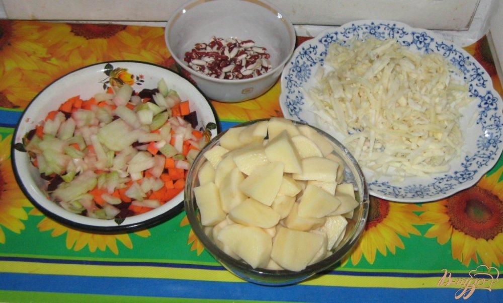 Фото приготовление рецепта: Постный борщ шаг №2