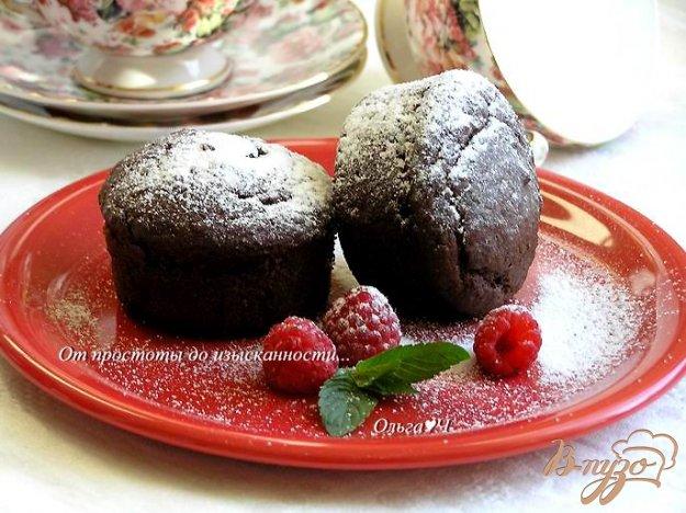 Рецепт Шоколадные вишневые кексы с корицей