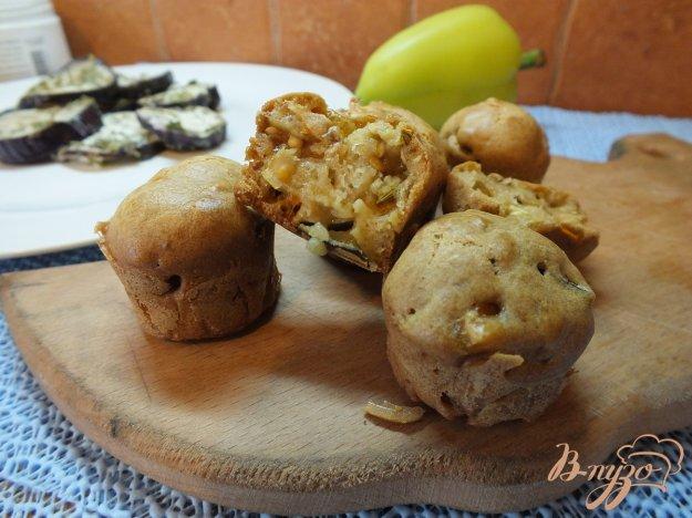 Рецепт Кексы овощные с фенхелем, синими и перцем