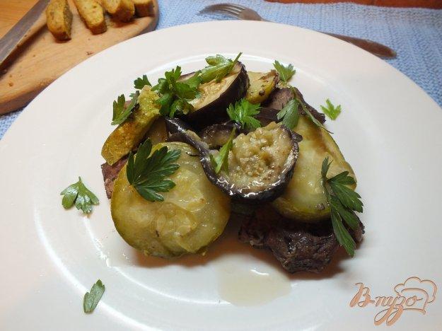 Рецепт Мясо запеченное слоями с овощами