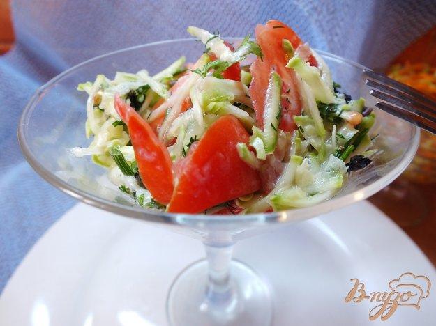 Рецепт Салат из свежего кабачка с помидорами