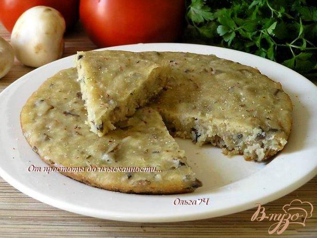 Рецепт Закусочный манник с грибами (в мультиварке)