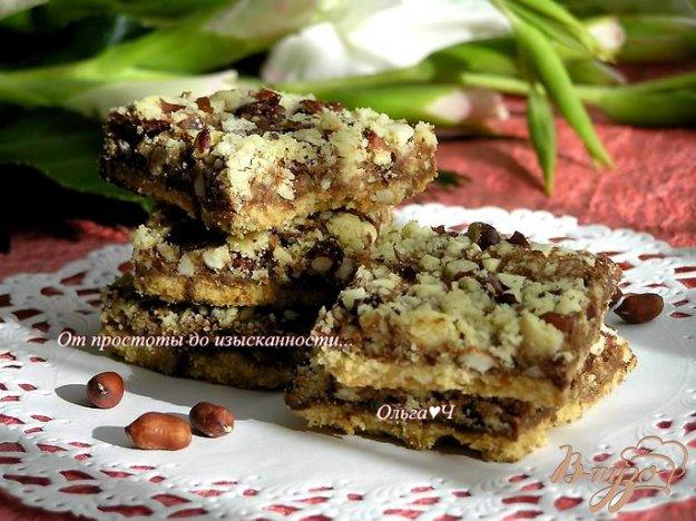 Рецепт Шоколадное песочное печенье с орехами