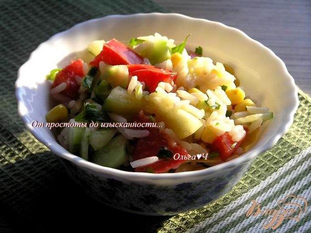 Рецепт Теплый рисовый салат с овощами