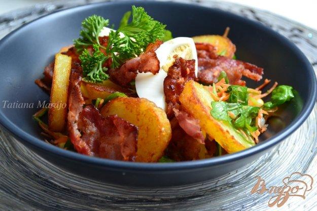 Рецепт Овощной салат с хрустящим беконом